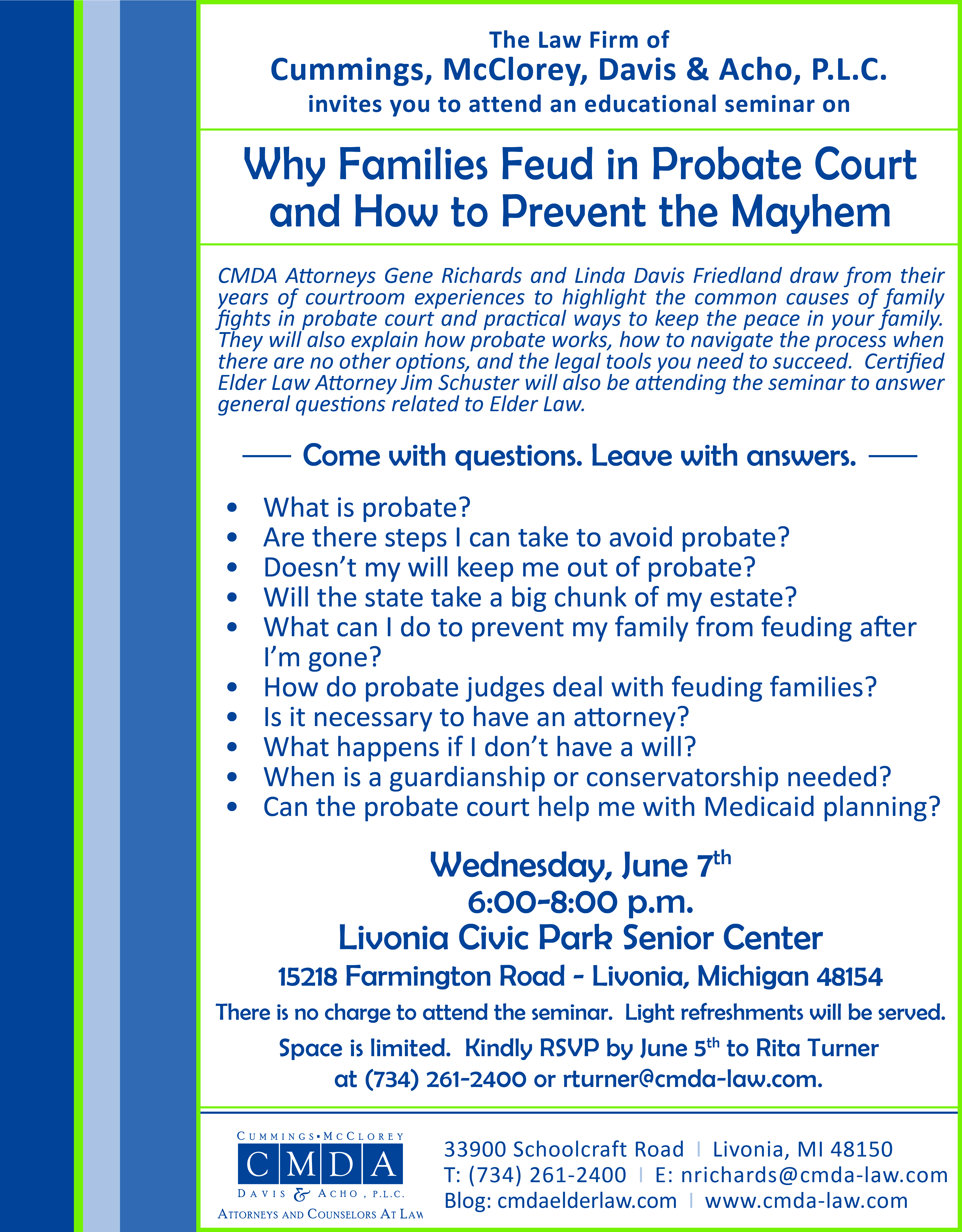 Why Families Feud in Probate Invite for Blog
