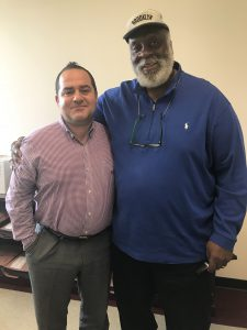 Jim Acho with Jerry Rush (Detroit Lions 1965-72) a former Lions player rep